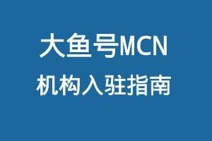 大鱼号MCN机构入驻指南